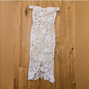 White lace dress worn once for bridal shower